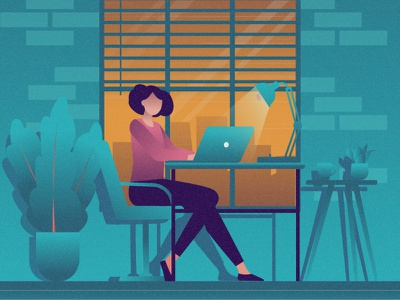 Freelancer flat 2d vector lifestyle life illustration landscape illustration hobby landscape world lifestyle illustration dribbble best shot dribbble