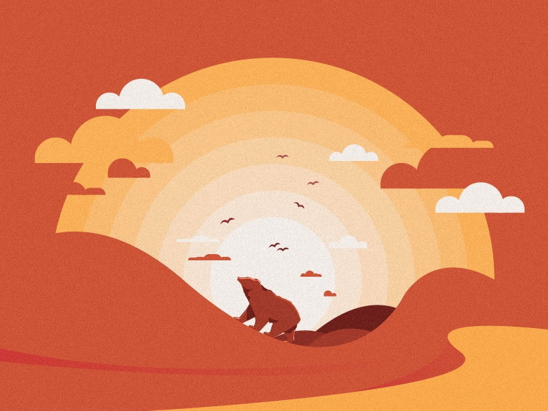 SAVETHEMAZAALAI redbook bird sun desert cloud bear mazaalai flat mongolia dribbble