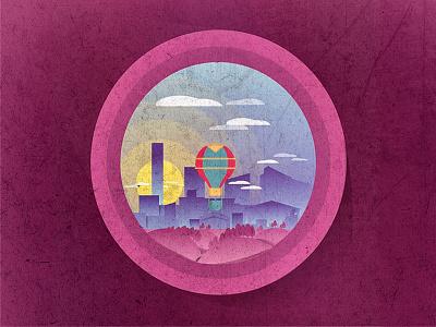 UB CITY pink cloud sun city fly dream airballoon balloon
