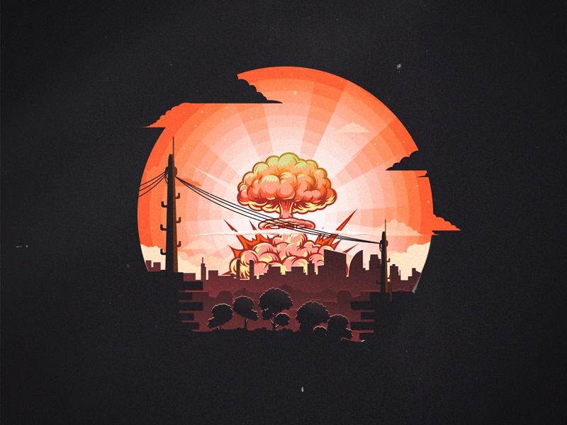 BOOM sane sun bomb boom city mongolia ulaanbaatar work illustrator flat art illustation