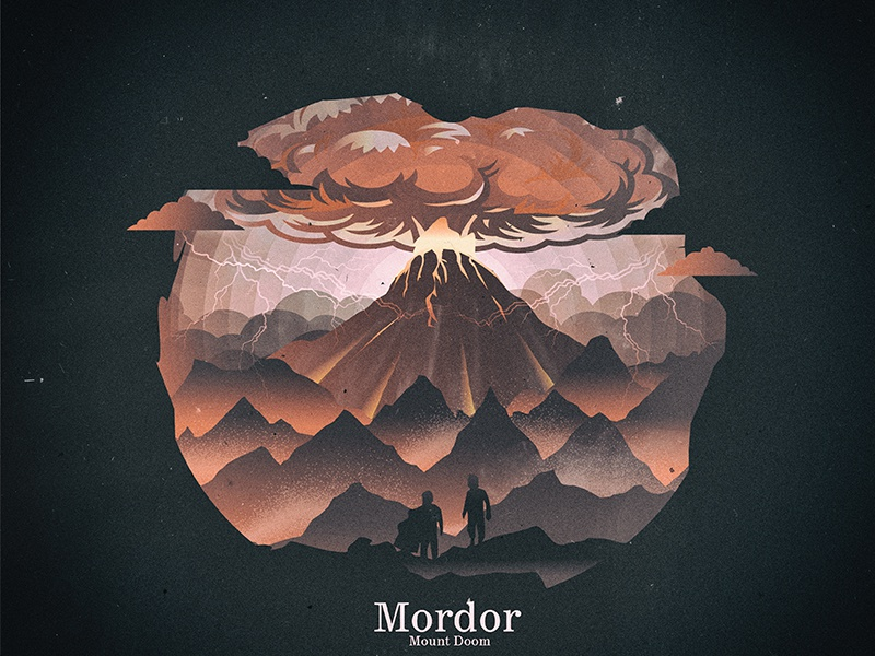 Mount DOOM mordor hobbit fire doom mount lord of the ring lotr mount doom