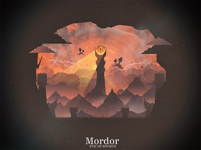 Eye Of Sauron illustration poster movie graphic the lord sauron of mordor eye ring lotr