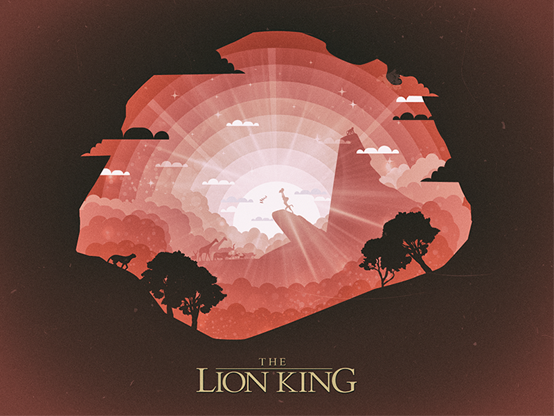 Lion KING simba cartoon nature tree animals lion lion king illustration