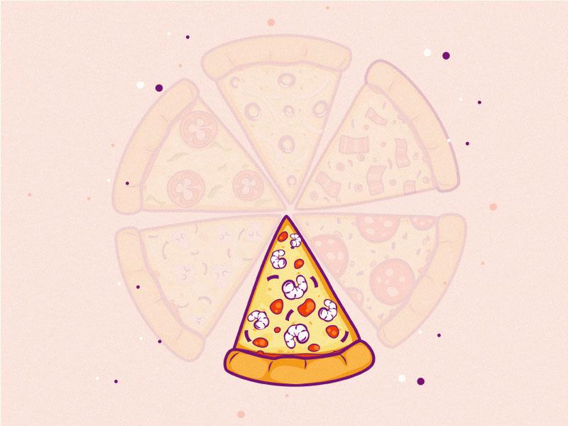 Pizza pizza logo pizza hut pizza sticker art logo sticker line art 2d line dribbble design mongolia flat illustrator illustration art