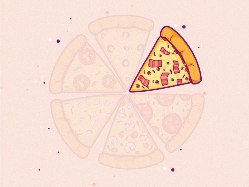 Pizza pizza logo pizza hut pizza sticker art sticker line art vector line 2d dribbble design illustrator flat mongolia illustration art