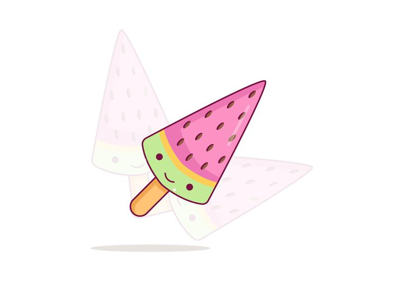 Cute Ice Cream sticker design ice cream logo ice cream logo sticker line art vector 2d line dribbble design illustrator flat mongolia illustration