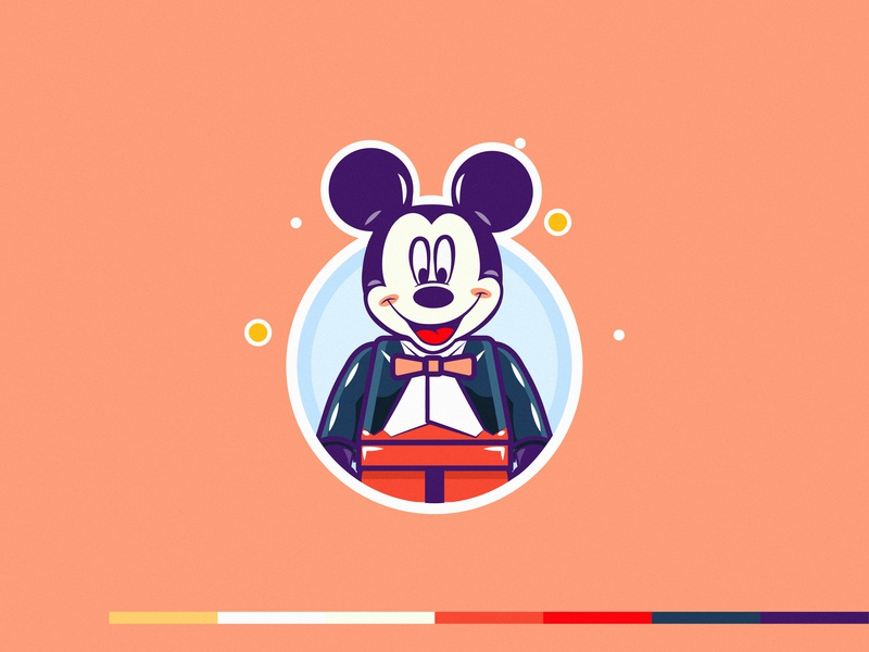 Lego Mickey dribbble minimal 2d character line art ui mickeythesaviour legos lego mickeymouse mickey mouse mickey vector line mongolia flat illustration