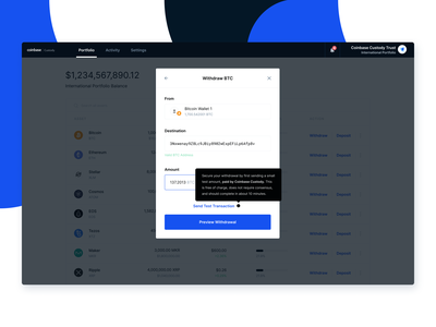 Move Funds with Confidence on Coinbase Custody web test transactions cryptocurrency crypto coinbase