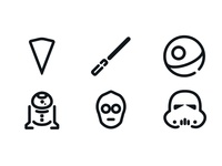 A New Hope Minimal Icons