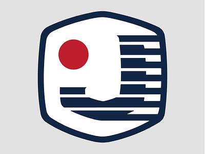 JAAM Lax logo sun stripes usa logo japan lacrosse