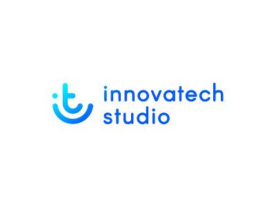 Innovatech Logo monogram studio innovation design tech logomark technology it gradient icon logo