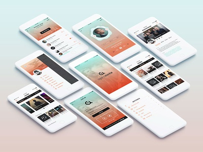 Mobile interface Rebranding ui entertainment media streaming waves gradient music player player mobile app music