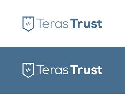 Teras Trust Logo trust fort shield protect coding security intranet logo mark monogram technology icon logo