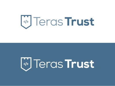 Teras Trust Logo trust fort shield protect coding security intranet logo mark monogram technology icon logo