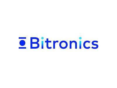 Bitronics Logo binary data informatics design branding technology tech it icon logo mark logodesign logotype logo