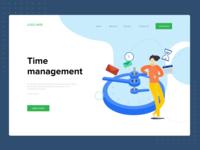 Time Management Concept - header design