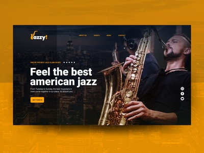 Hero for Jazz Bar new york bar jazz interface site web branding ui design