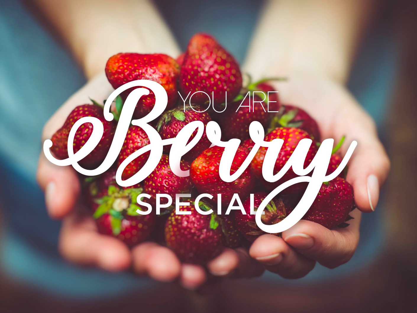 Berry Day poster art gradiant san serif handwriting font typo red color berry caligrafia typography