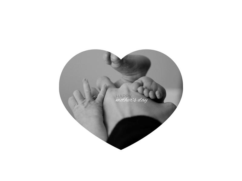 Mother's Day firstlove baby black  white designer love mom design love