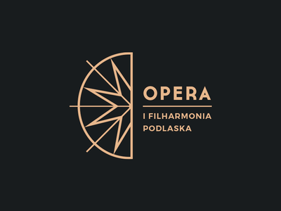 Podlasie Opera and Philharmonic Logo logo design gold logotype music opera branding simple identity symbol mark design logo