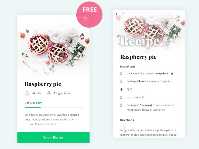 Free Recipe Application
