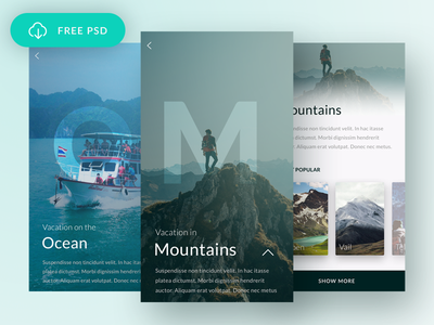 Free Travel App interface flow simple clean ux ui mobile app travel freebie free