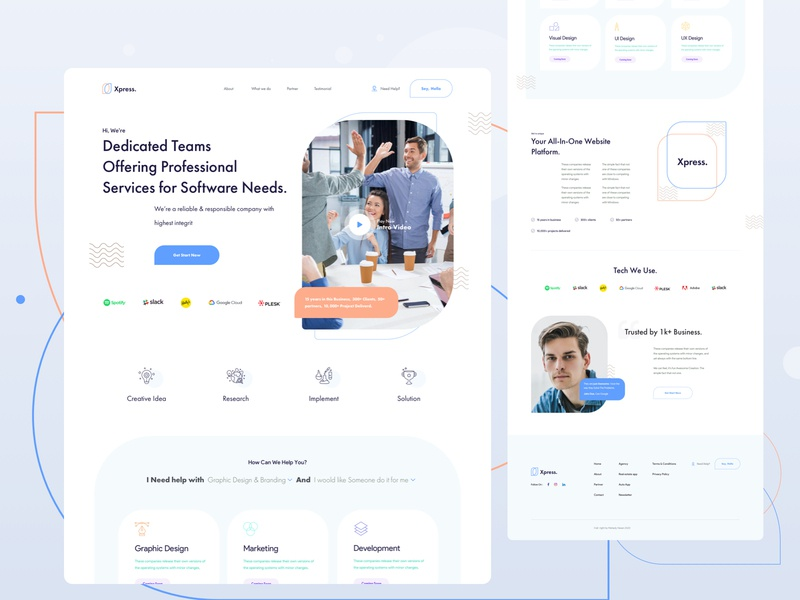 creative agency web exploration  v6 template ux userinterface typography corporate clean creative homepage website agency grid layout landing page interface visual concept explainer ui web minimal