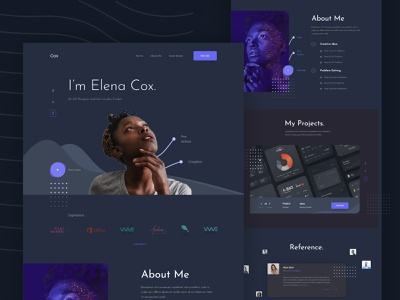 Portfolio exploration v3 Dark mode dark ui website dark trend template resume portfolio personal layout landing page interface homepage branding hire cv concept exploration ui web agency