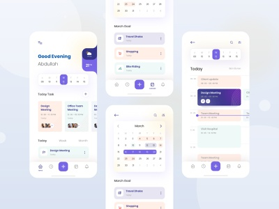 Task Management app Exploration application task to do list ux userinterface web trending grid clean layout concept visual interface minimal calendar ui task management ios exploration ui app