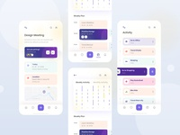 Task Management app exploration (Task details + Activity) web visual ux userinterface trending to do list task management task minimal layout ios interface grid concept clean activity application exploration ui app
