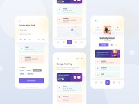 Task Management app exploration (Add Task + Profile) visual ux userinterface trending to do list typography minimal layout ios interface grid concept clean application profile exploration ui app management task