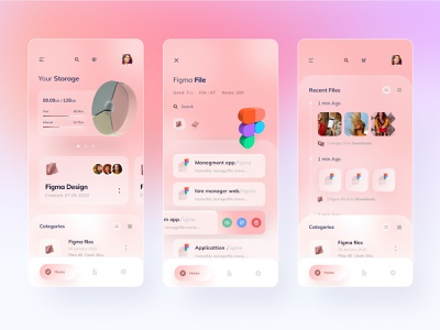 File management app ux visual userinterface ui typogaphy trending minimal layout ios interface file sharing file management file manager exploration concept colors clean application app 3d