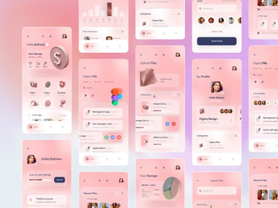 file management app product design grid visual userinterface ux ui typogaphy trending minimal layout ios file sharing file management file manager exploration colors clean application app 3d