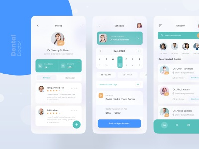dental doctor v2 🦷 medical app medical health health app patient app typogaphy profile ux userinterface exploration clean visual interface ui minimal doctor appointment doctor app doctor dental clinic dentist