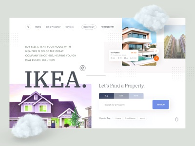 Real estate exploration v8 house typogaphy trending uidesign ui  ux ux redesign realestateagent rent landing page grid clean layout interface visual minimal exploration ui web real estate