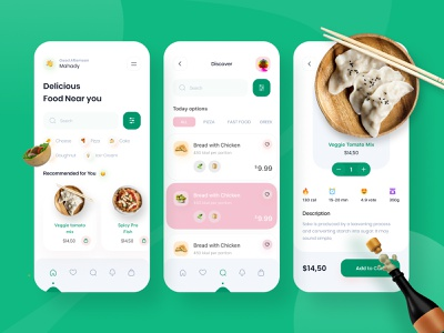 Food Delivery App product design mobile ui healthyfood uielements resturent 3d ux grid clean layout interface visual minimal exploration ui app delivery service delivery app food app food