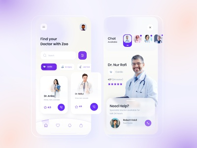 Find Doctor v2 app product design hospital app doctor appointment trending clean minimal interface mobile ui patient app health app medical app medical find doctor doctor gradient exploration visual ux ui
