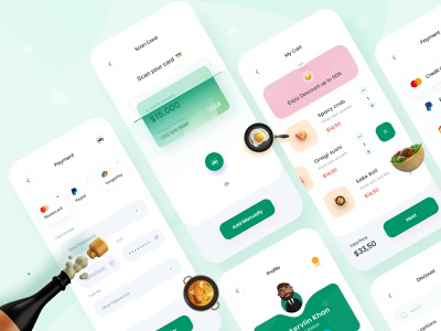 Food Delivery app 🥘 (profile+Payment+support) product design uielements 3d ux trending minimal scan add to cart payment profile food delivery service food and drink interface visual food delivery food app explosion ui app food