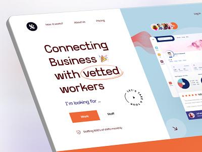 Hiring platform web product design hiring platform dashboard ui ux 3d color typogaphy hiring hire trending grid clean layout interface visual graphic landing minimal ui web