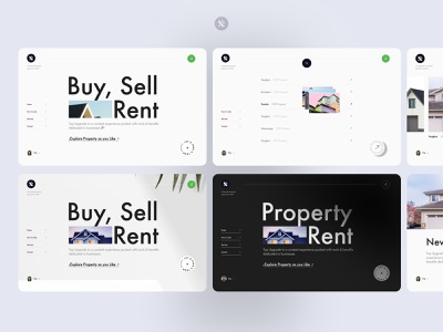 Real Estate web homepage home rent inovation product design webflow trending website typography landing page rental service real estate agent property real estate minimal interface visual layout ux ui web