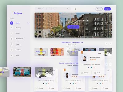 helpeo web app (home page) application e-commerce minimal project web application ux ui interface dashboard app cross platform web app