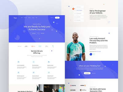 Inspo (Service) Landing page concept case-study exploration marketing agency management service ui clean creative fluent trend grid layout visual interface minimal landing page concept web agency
