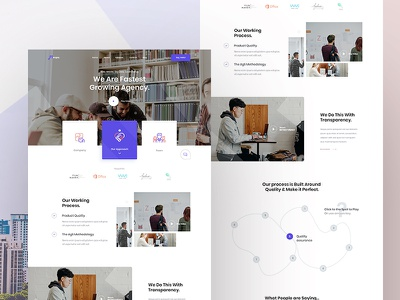 Creative agency #About us Exploration V3 ui template agency typography ux design userinterface uidesign fluent design grid visual interface trending minimal creative agency clean aboutus exploration landing page web concept