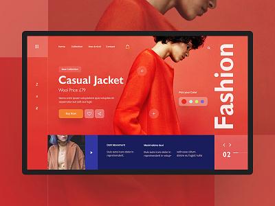 Minimal Fashion web Exploration #2 concept visual ux interface ui jacket social shop minimalistic giga product design model responsive modern women fashion mens fashion landing page web fashion ecommerce