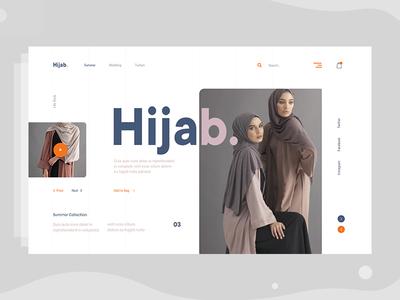 Minimal E-commerce web Exploration v3 dress store fashion hijab shop color ux fluent typography grid trend layout web visual landing page interface ecommerce concept ui minimal