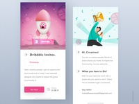 Dribbble Invite Exploration.