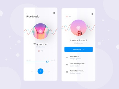 Music app ui Exploration