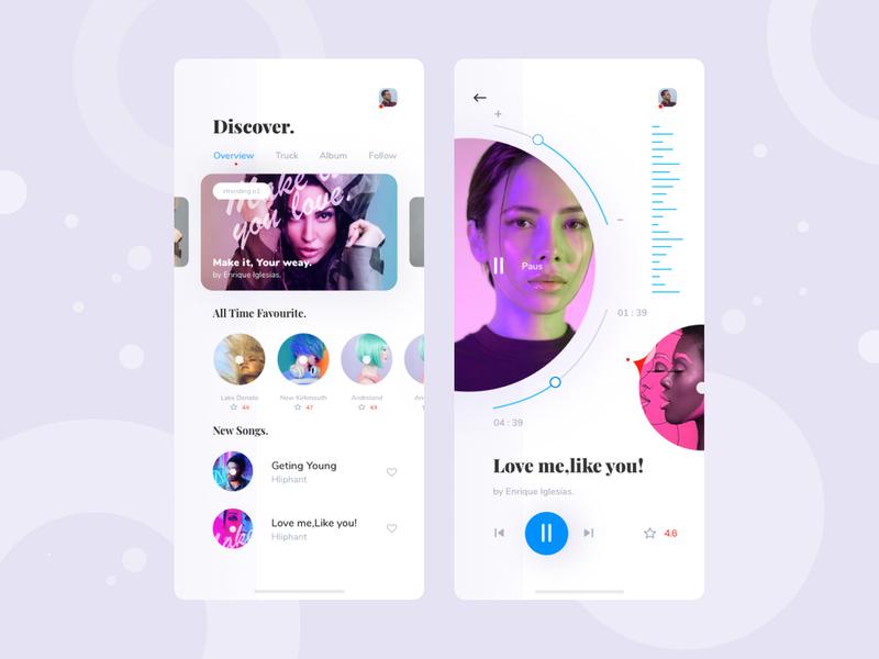 Music app Exploration v2 music artwork ios mobile ui typography web uiux ux clean grid layout music player music app music app exploration concept visual ui interface minimal