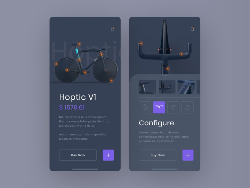 Bicycle Shop Exploration product design details ecommerce app store bicycle mobile ui ux design ui design ux exploration shop creative clean grid layout concept ui visual interface minimal