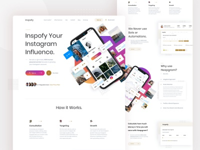 Inspofy web exploration product design userinterface ux homepage corporate elegant clean grid layout management tool management instagram visual landingpage website web exploration interface ui minimal